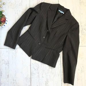 Antonio Melani Brown pinstripe blazer Size 6